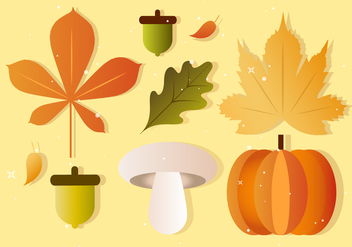 Free Vector Fall Autumn Elements - Kostenloses vector #386743