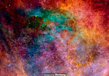 Vector Watercolored Outer Space Texture - vector gratuit #386813
