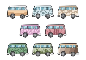 Free Hippie Bus Vectors - бесплатный vector #387103