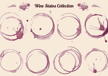 Free Vector Wine Stains Set - vector gratuit #387113