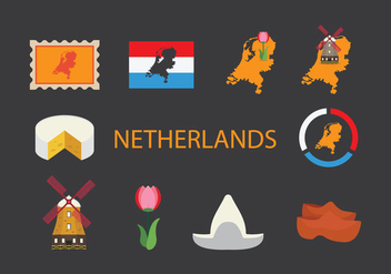 Netherlands Map Icon Set - vector gratuit #387233