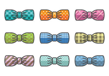 Bow vector icons - vector #387243 gratis
