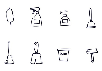 Cleaning Icon Vectors - vector #387263 gratis