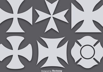 Vector Maltese Crosses - Free vector #387293