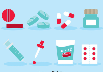 Medicine Icons Set - Free vector #387483