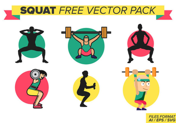 Squat Free Vector Pack - Kostenloses vector #387563