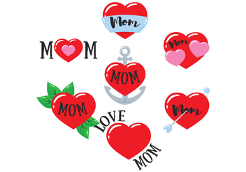 Mom Tattoo Vector - Free vector #387583