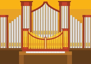 Pipe Organ Vector illustration - vector gratuit #387593