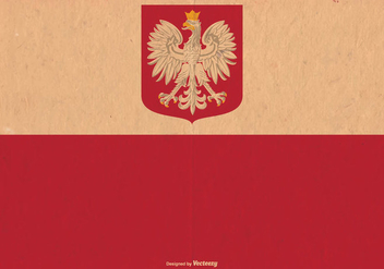 Old Poland Flag Vector - vector #387603 gratis