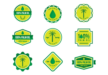 Free 100% Palm Oil Badges Vector - бесплатный vector #387623