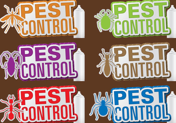 Pest Control Titles - vector gratuit #387653