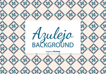 Creamy Azulejo Tile Background - Free vector #387753