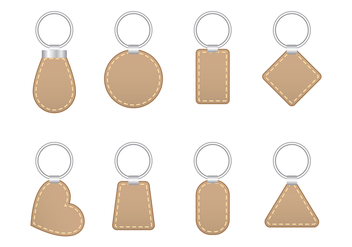 Stitched Leather Key Holder Vector - бесплатный vector #387823