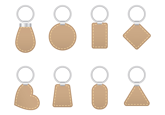 Stitched Leather Key Holder Vector - Kostenloses vector #387823