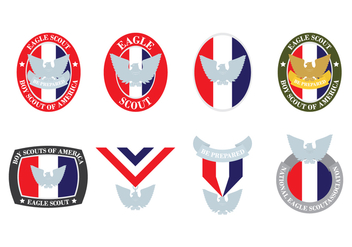 Eagle Scout Badges - Free vector #387873