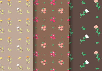 Tulip and Daisy Pattern Vector - Free vector #387893