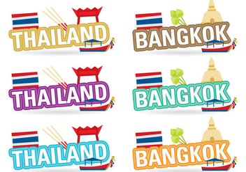 Thailand And Bangkok Titles - vector gratuit #387993