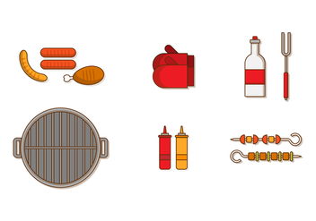 Brochette Vector Set - бесплатный vector #388043