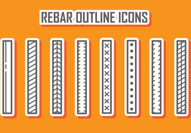 Скачать Rebar Outline Icons бесплатный вектор 388073 ...