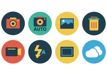 Free Flat Camera Icon Set - Kostenloses vector #388103