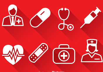 Medical White Icons Vector - бесплатный vector #388113