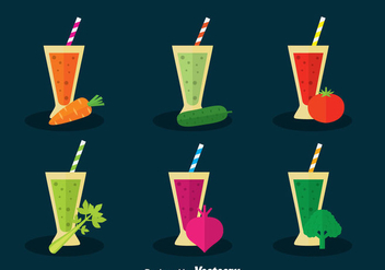 Vegetable Juice Vector Set - Free vector #388123