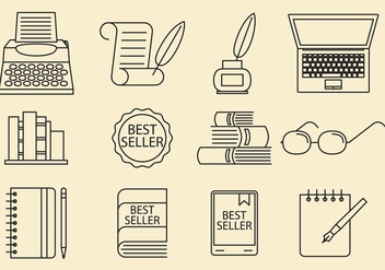 Writer Icons - vector gratuit #388223