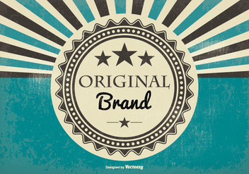 Retro Style Original Brand Illustration - vector #388303 gratis