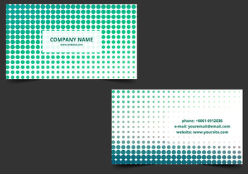 Free Vector Halftone Business card - бесплатный vector #388343