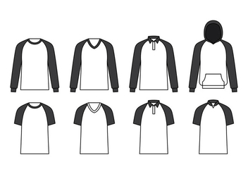Raglan Template Vector - бесплатный vector #388373