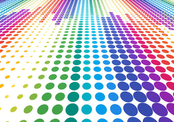 Free Vector Colorful Halftone background - vector #388453 gratis