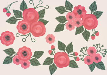 Vector Floral Compositions - vector gratuit #388463
