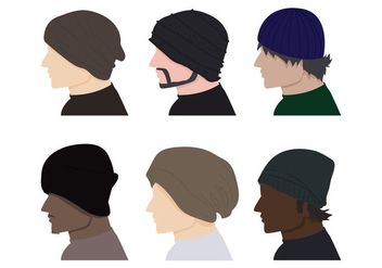 Male Hat Vectors - vector gratuit #388483