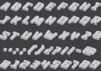 Gray Isometric Type - бесплатный vector #388493