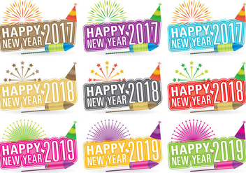 New Year Titles - vector #388503 gratis