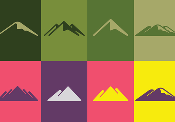 Mountain Logo Set - Free vector #388653