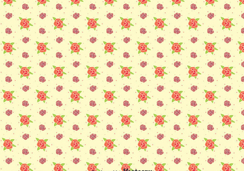 Little Pansy Flowers Pattern - vector gratuit #388713