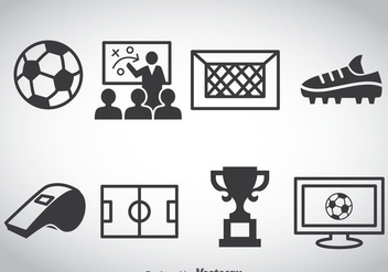 Football Element Icons Vector - vector gratuit #388733
