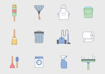 Free Cleaning Equipment Vector - бесплатный vector #388843