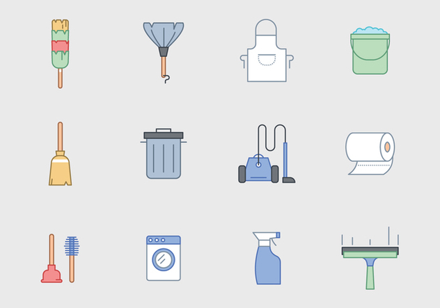Free Cleaning Equipment Vector - Free vector #388843