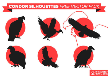 Condor Silhouette Free Vector Pack - vector #388863 gratis