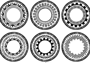 Boho Style Circle Shapes - vector gratuit #388953