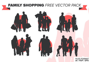 Family Shopping Free Vector Pack - Kostenloses vector #388993