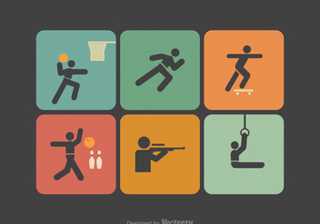 Free Sport Stick Figure Vector Icons - бесплатный vector #389043
