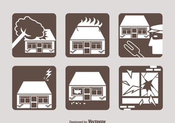 Free Property Insurance Vector Icons - Free vector #389103