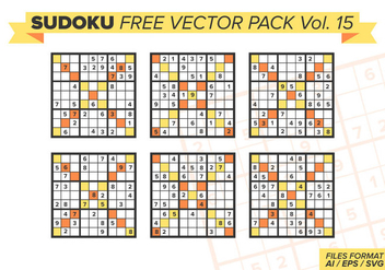 Sudoku Free Vector Pack Vol. 15 - бесплатный vector #389113