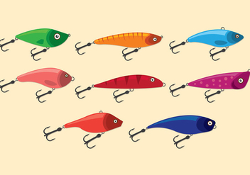 Fishing Lure Vector Icons - Free vector #389133