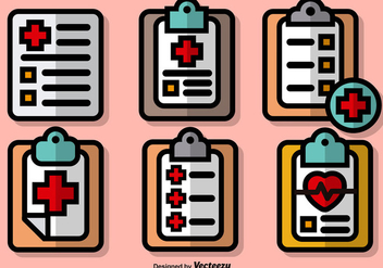 Vector Set Of Colorful Prescription Pad Icons - Free vector #389143