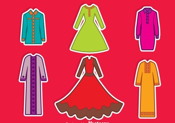 Arabian Abaya Collection Vector - Free vector #389203