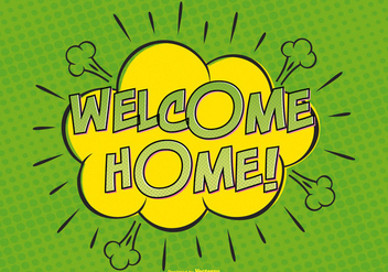 Welcome Home Comic Illustration - vector gratuit #389233